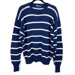 Vintage Polo by Ralph Lauren Striped Horse Sweater
